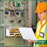 construção elétrica em galpão industrial